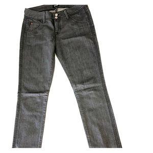 Hudson Collin Flap Skinny Jean size 26, gray